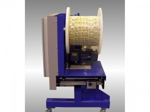 Spooling unit for strips - 50 mpm - spools size 500x500
