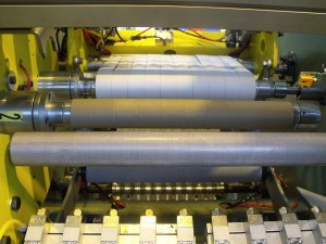 Slitter with automatic rewinder - paper 130g/m² - Width 500 mm - Productivity: 1000 rolls/h