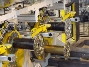 Spooling line with 12 units including automatic change - strip 10 mm - Width 400 mm - diameter 400 mm