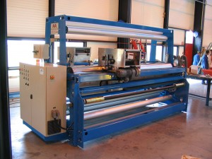 Flexo printing unit 1 color- Printing width : 400 mm - Product width: 3000 mm - Blade chamber - Speed: 120 mpm