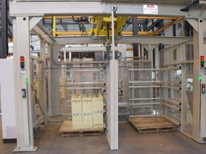 Boxes palletizing line