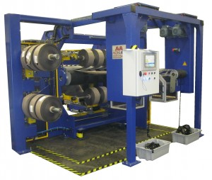 Slitter rewinder for rubber - and rubberized textile - Witdh  1000 mm