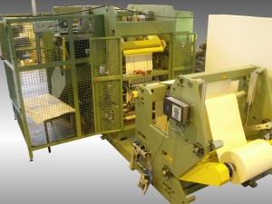 Automatic slitter rewinder with packaging -paper 130g/m² - Width 500 mm - Productivity: 1000 rolls/h