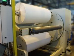 Automatic turret unwinder - TUW1600 - Width : 1600 mm, diameter : 1200 mm, speed : 100 m/min